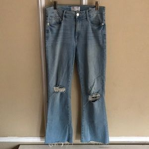 e726865c27f57 Frame Denim Jeans - Frame Hi Rise Le Crop Mini Boot Garrn River sz 27